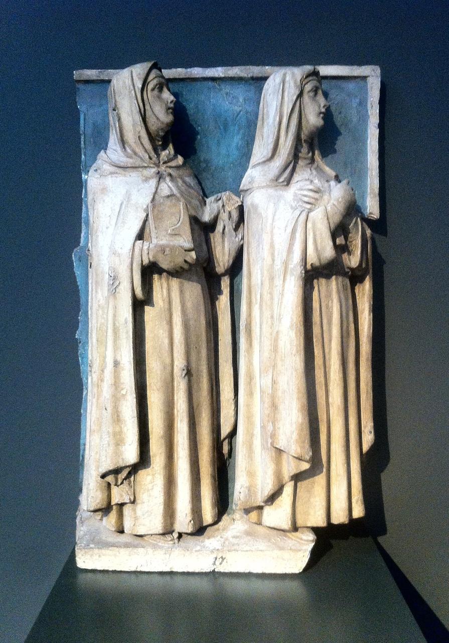 Twee vrouwelijke heiligen