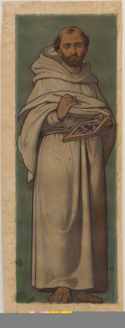 Schilderende monnik