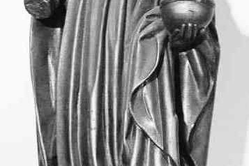 een heilige koning met Rijksappel