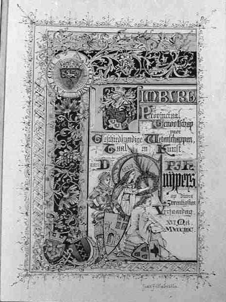 Hulde van 'Limburg' aan Dr. P.J.H. Cuypers, 16 mei 1897