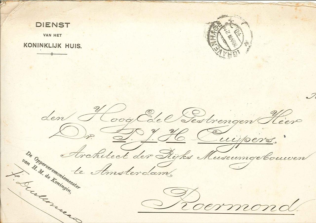 Brieven en drukwerk van persoonlijke aard van Fam. P. Cuypers-Alberdingk Thijm.