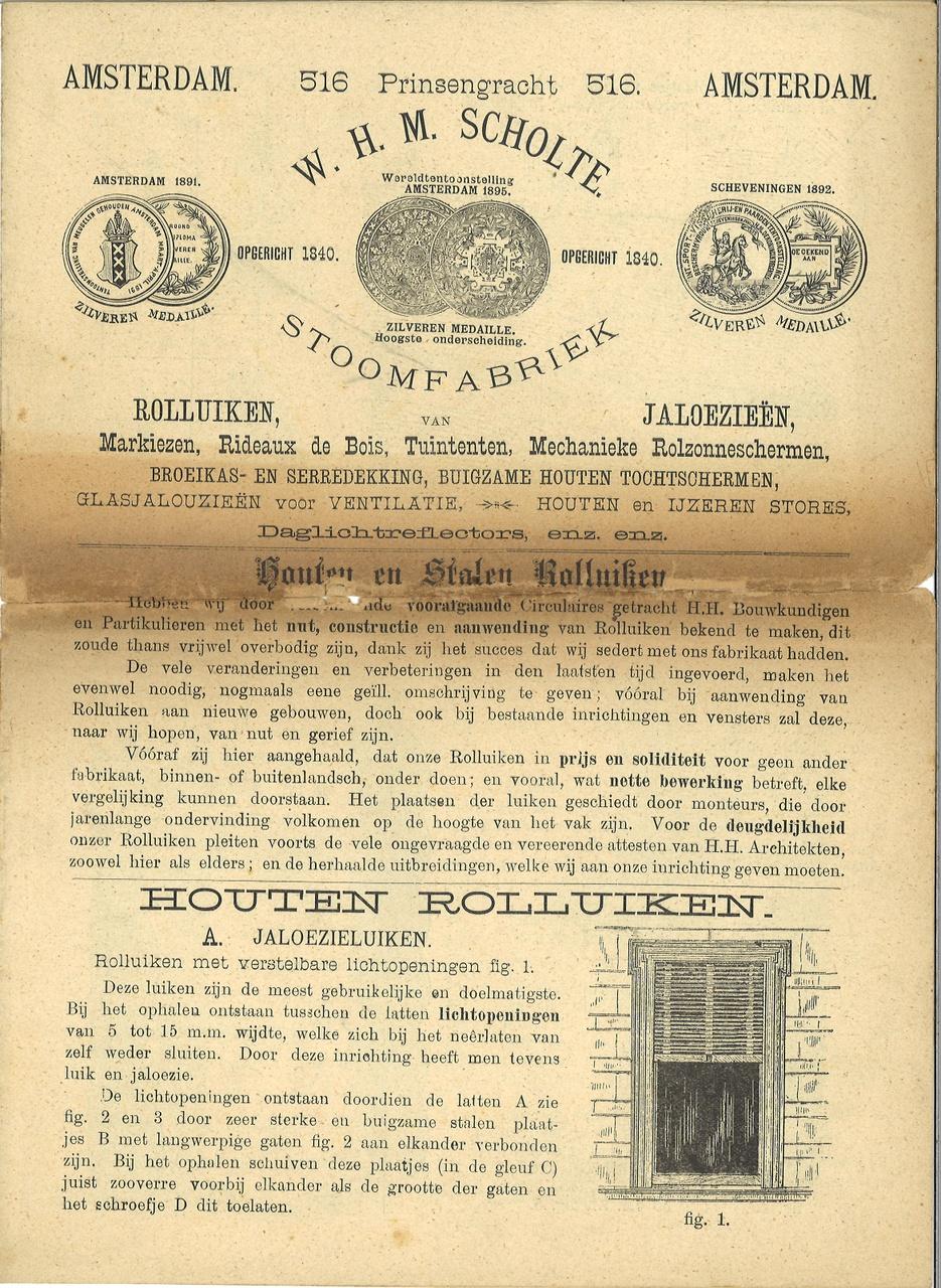 Diverse informatie m.b.v. bouwmaterialen, afkomstig uit Cuypers archief.