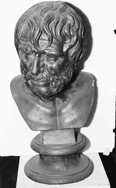 Borstbeeld van een antieke held