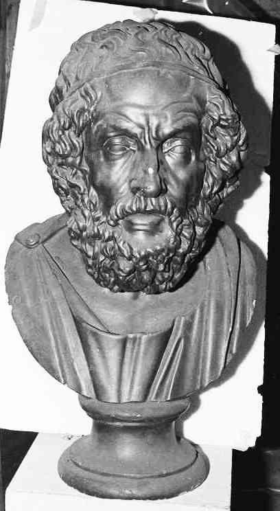 Borstbeeld van (de blinde) Homerus