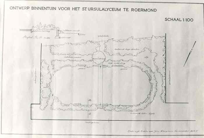 Ontwerp binnentuin voor het St. Ursulalyceum te Roermond