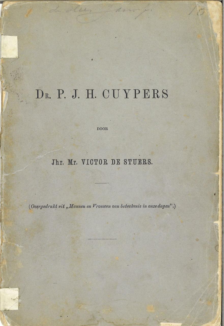 Dr. P.J.H. Cuypers, door Jhr. Mr. Victor de Stuers
