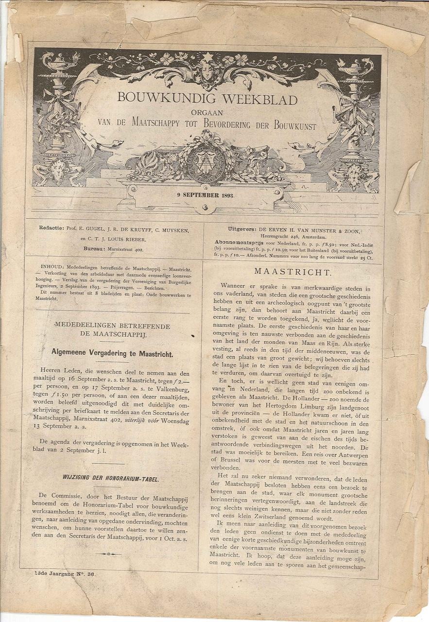 Bouwkundig weekblad, orgaan van de maatschappij tot bevordering der Bouwkunst