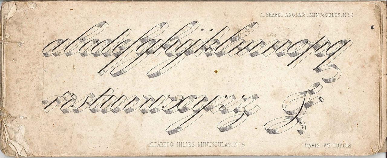 Boekje met voorbeeld-alfabets