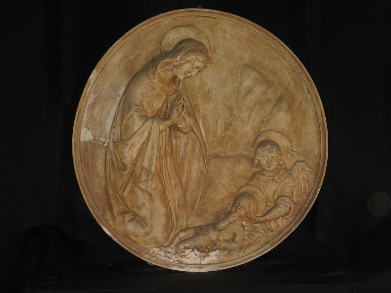 Maria met Jezus en engel