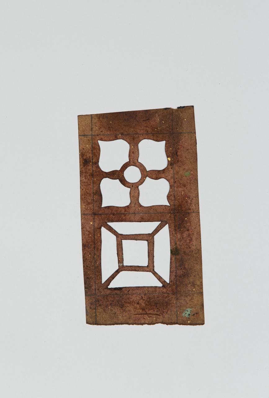 Sjabloon met twee vierkante geometrische motieven