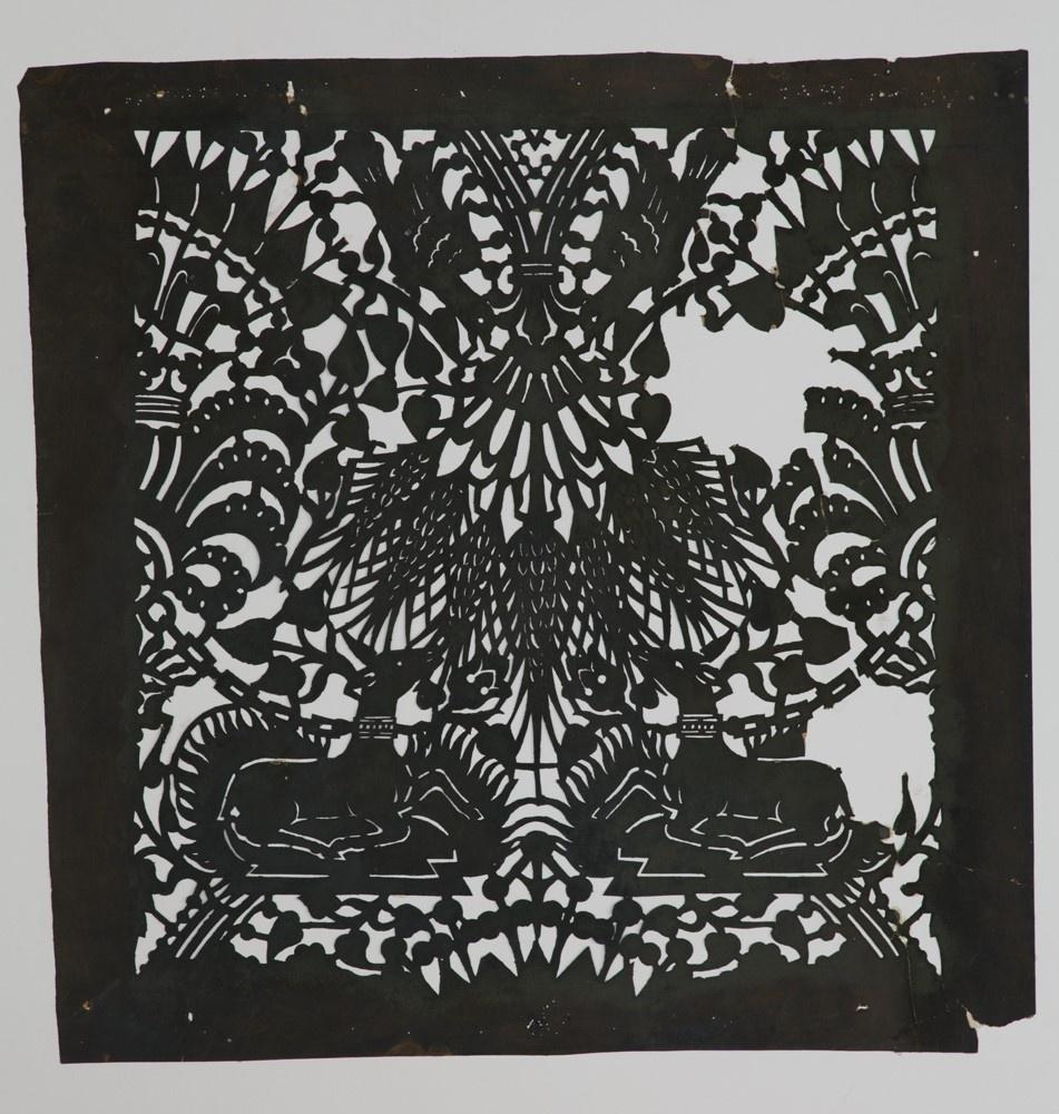 Sjabloon met een symmetrisch patroon