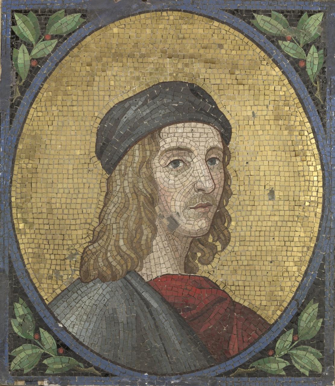 Glasmozaïek voorstellende Raphaël